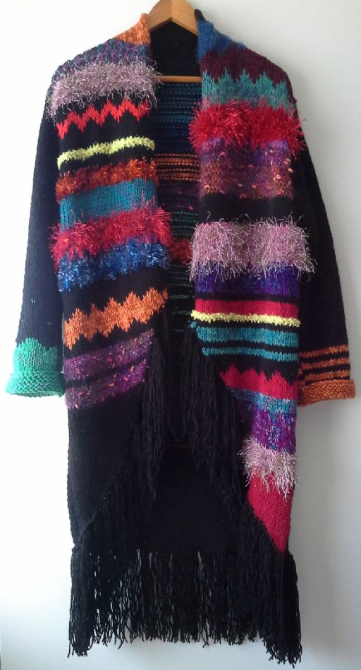 GYPSY - handknitted colourful coat